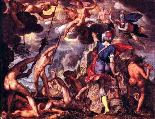 Image result for titanomachy greek mythology