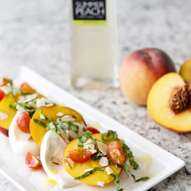 Peach Caprese Salad is a fun twist to the original recipe.
