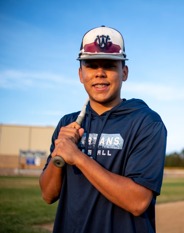 GREELEY, CO - OCTOBER 15:Edgar Urquidi poses for a portrait before practice at the Dayspring Christian Academy baseball field in Greeley Oct. 15, 2020. (Alex McIntyre/Staff Photographer)
