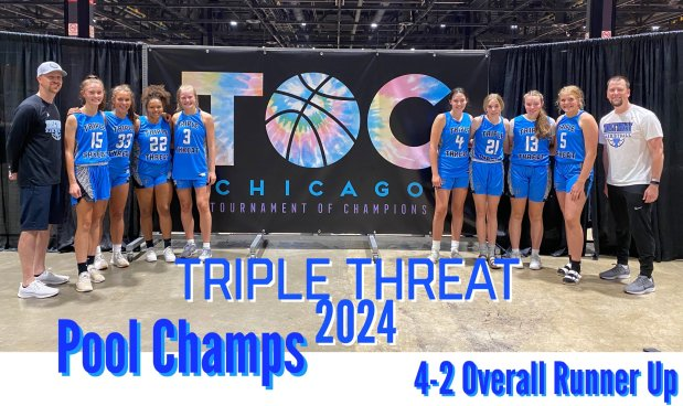 The NOCO Triple Threat's Class of 2024 girls basketball team went 4-2 to be the runner-up at the Nike Tournament of Champions on July 10-12 at the McCormick Place Convention Center in Chicago. (Courtesy/Todd Matkin)