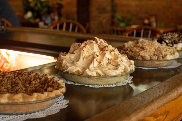 The Coconut Cream pie is the only one at Fat Albert's that is topped with a fluffy meringue. (Emily Kemme)