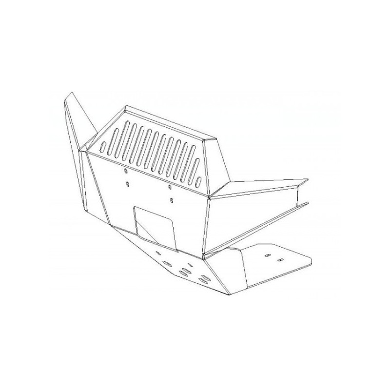 Front protection Aluminium Alloy Kawasaki KVF650