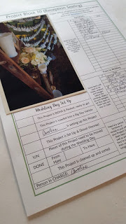 How to Style your Wedding using the Project Block System Workbook from Green-Eyed Girl Productions. Wedding Planning Worksheets