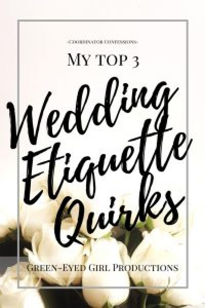 My Top 3 Wedding Etiquette Quirks. Wedding Coordinator Confessions. Addressing Invitations Properly, Sipping on a Toast, Registry Information in the Invitation. How to Plan a wedding. Wedding Planning Advice. Wedding Planning How To. Wedding Etiquette.
