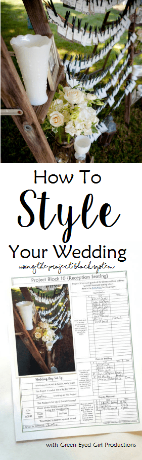 How to STYLE Your Own Wedding Using The Project Block Workbook