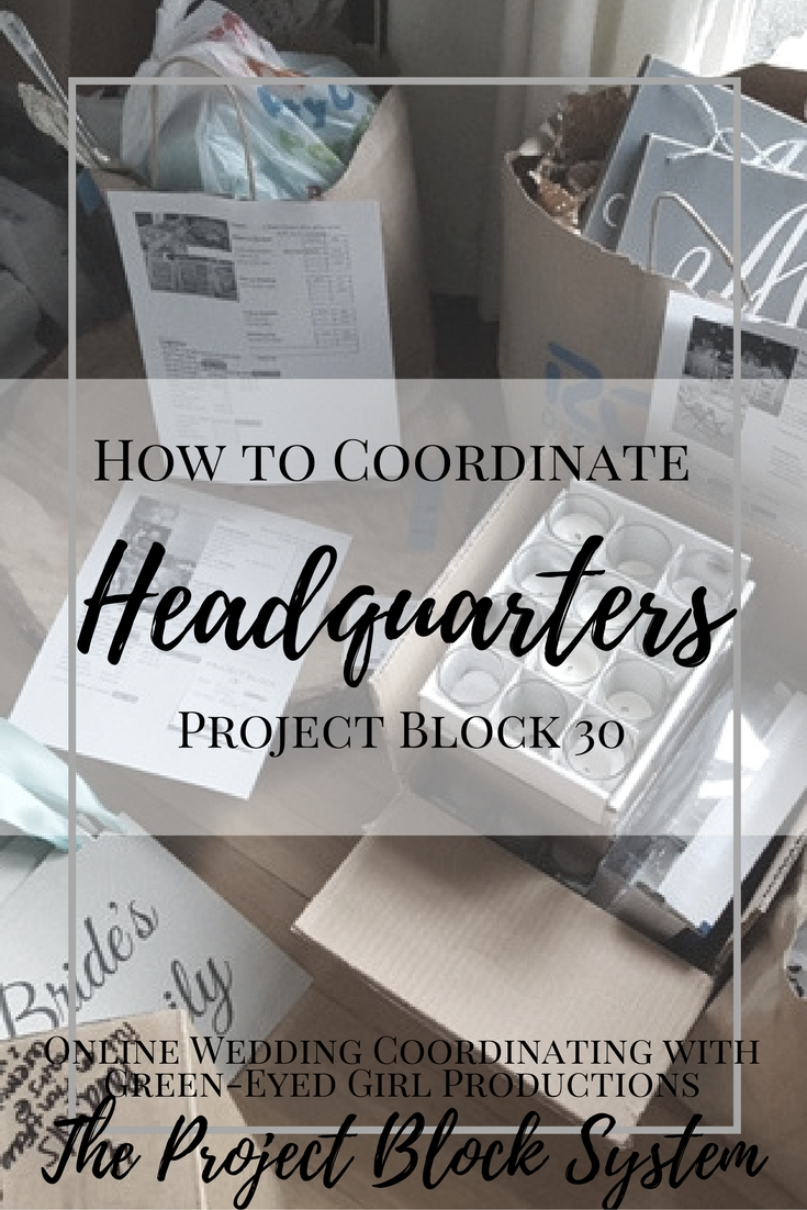How to Coordinate your Wedding Headquarters | Project Block 30
