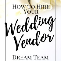 Hiring your Dream Team Wedding Vendors | Interview Workbook