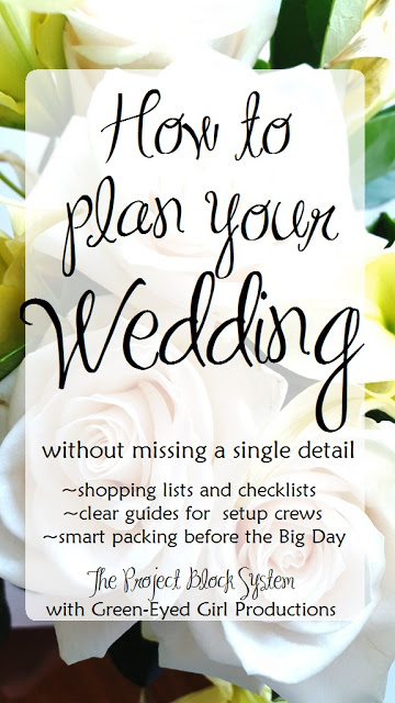 Wedding Planning just got easier. Learn to plan your wedding without missing a single detail by using The Project Block System with Green-Eyed Girl Productions. Make Wedding Worksheets, use checklists and complete weekly assignments!