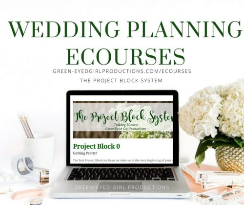 Wedding Planning ECourses. The Project Block System. How to plan your wedding by yourself. DIY Bride's Guide to Wedding Planning
