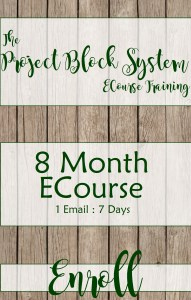 The Project Block System Training ECourse 8 Month