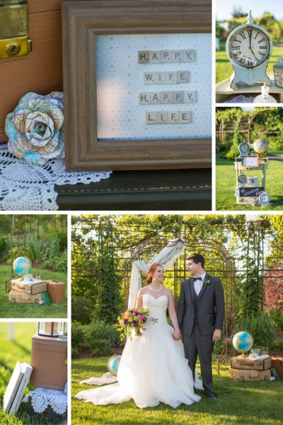The Adventure Begins Wedding Theme. Blue & Copper Wedding. Vintage Suitcases & Globes. The Oregon Garden. Vintage Globes and Rustic Crates. Vintage Wedding Theme. Welcome Table. Wedding Clocks. Clock Signs. Wedding Signs. Adventure Sign. Metal Wedding Details. Tan Globes. Vintage Suitcases. Trendy. Travel Wedding Theme. Destination Wedding. Adventure Wedding Theme. Blue Wedding. Happy Wife Sign