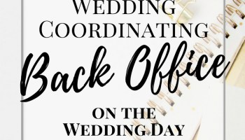 Day of wedding coordinator hiring a day of wedding coordinator how i setup my wedding back office on the wedding day wedding coordinator confessions junglespirit Choice Image