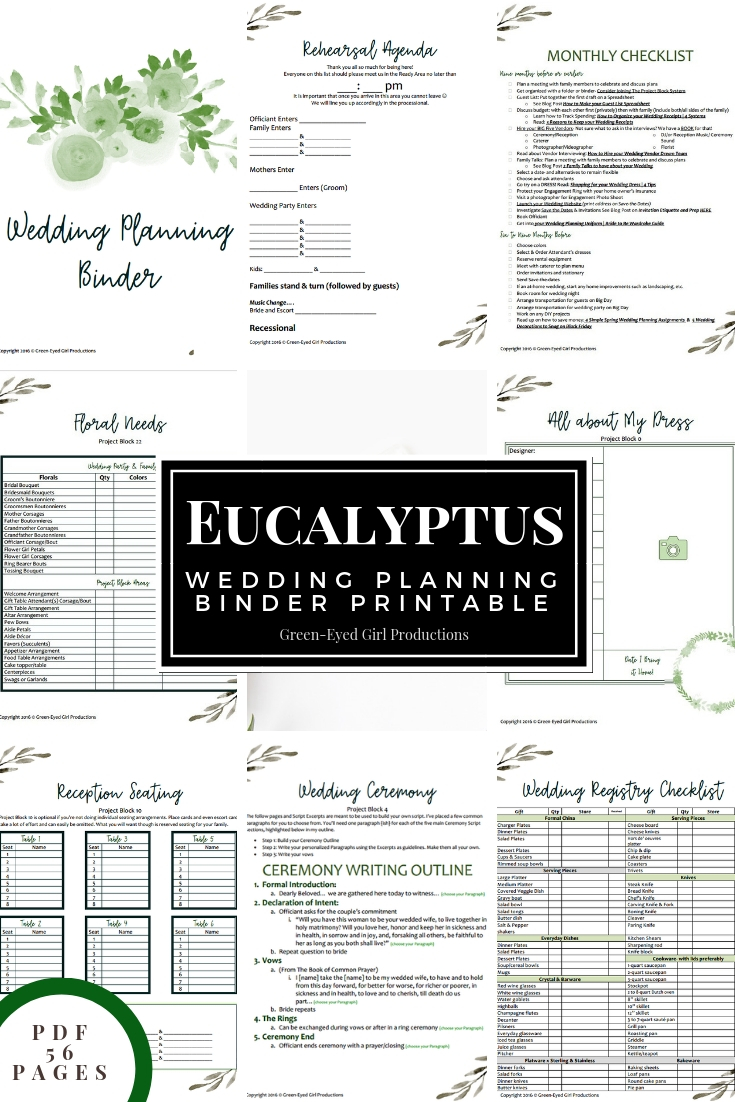It is an image of Printable Wedding Planning with schedule