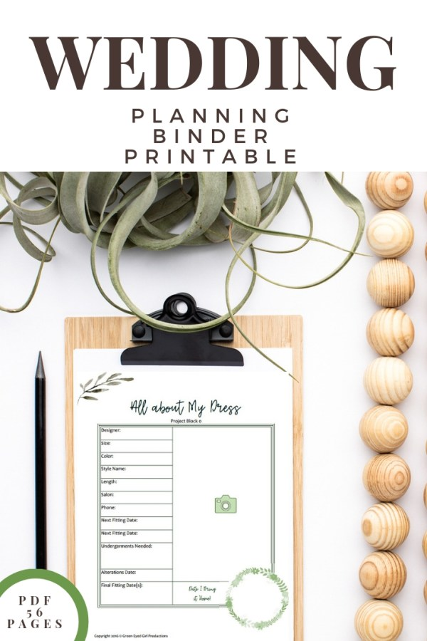 Wedding Planner Book | Wedding Planner Binder Printables, Wedding Guide, Wedding Notebook, To Do List Notebook- 56 Page – Eucalyptus