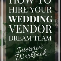 How to Hire your Wedding Vendor Dream Team | Wedding Vendor Interview Book