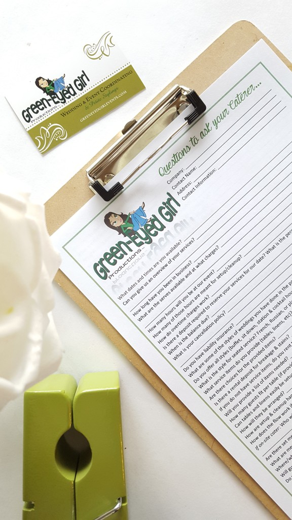 It's time to hire a Wedding Caterer! Soon you'll be setting up interviews. But what are the important questions to ask your Wedding Caterer IN the interview? In this Printable Wedding Worksheet, you'll have all the questions to ask your Wedding Caterer during an interview. Your Wedding Planning just got easier with these convenient Wedding Planner Binder Printable.