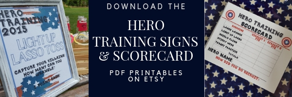 Download the Hero Training Signs and Scorecard on Etsy!