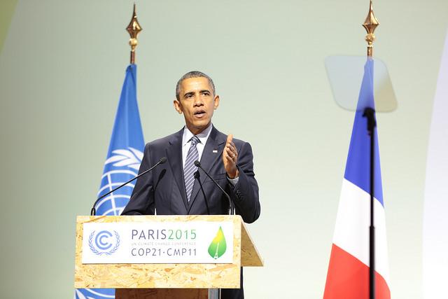 Przemówienie Baracka Obamy podczas COP21 / Źródło: UNclimatechange Flickr