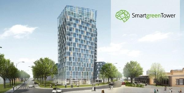 Smart Green Tower: budynek energooszczędny pasywny inteligentny
