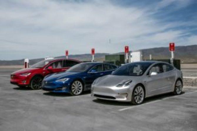 Tesla S, Tesla X, Tesla Model 3