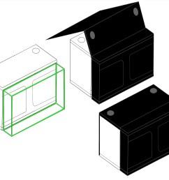 grow tent x qube grow room diagram [ 3222 x 2700 Pixel ]