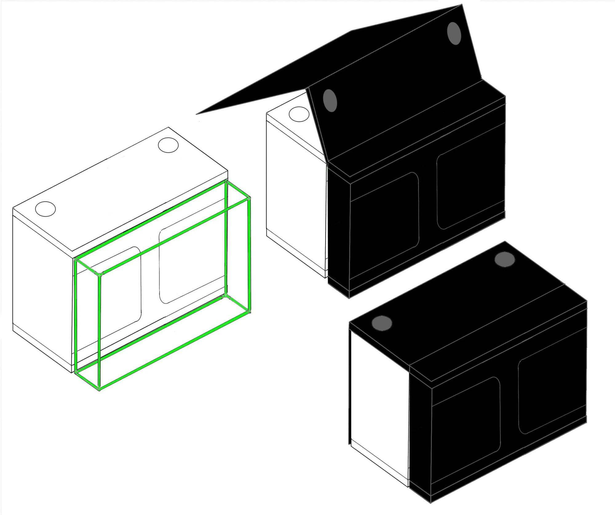 hight resolution of grow tent x qube grow room diagram