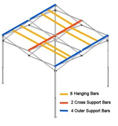 hanging bars for quick qube large grow room [ 989 x 985 Pixel ]