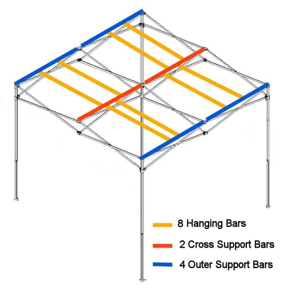 hight resolution of hanging bars for quick qube large grow room
