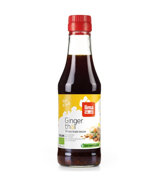 sauce soja au gingembre bio 250ml lima