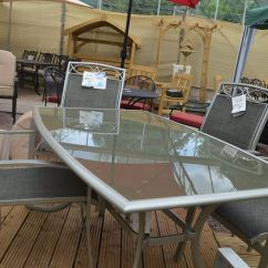 Outdoor Recliner Chairs Uk Serena And Lily Hanging Chair Leisure Grow Gold Coast Dining Set | Greenacres Garden Centre
