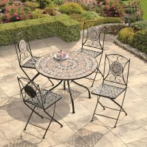 Garden Furniture Algiers Mosaic Dining Set Greenacres