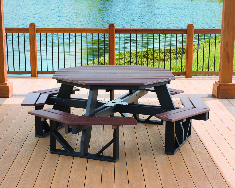 poly octagon picnic table in pa and nj