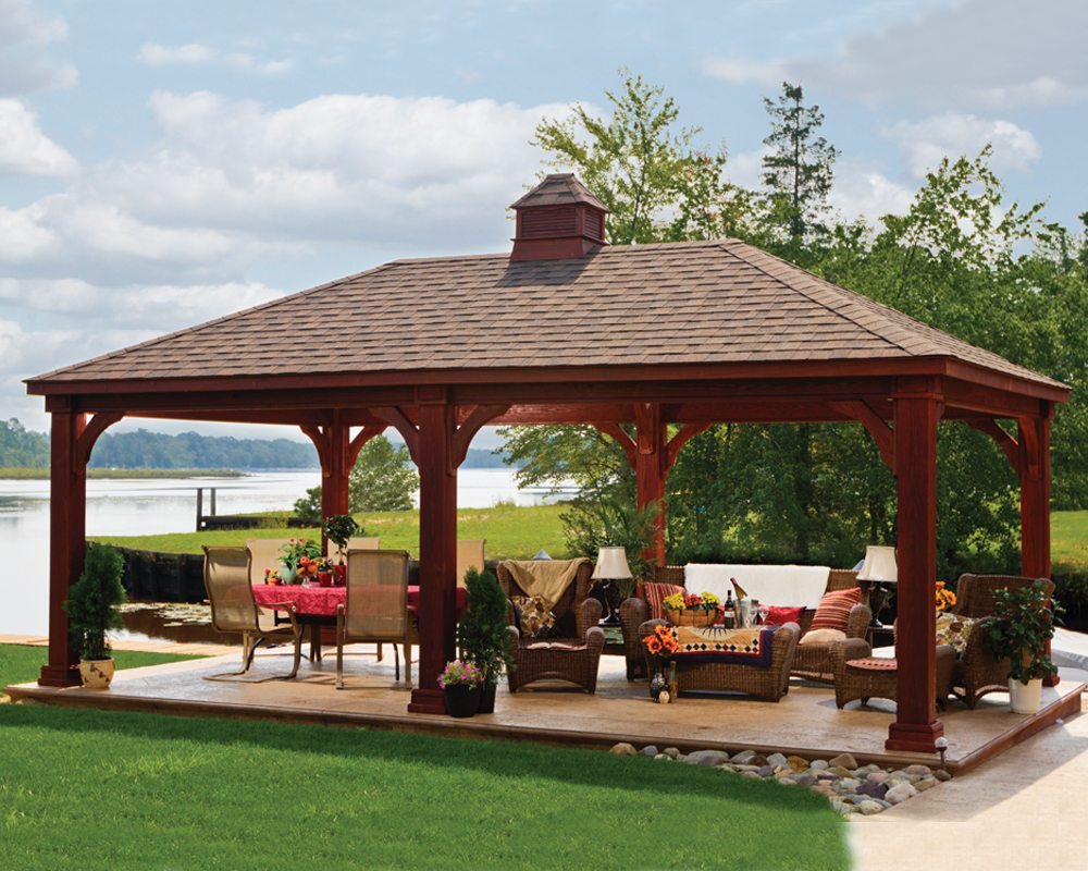 Traditional Wooden Pavilion  Green Acres Outdoor Living