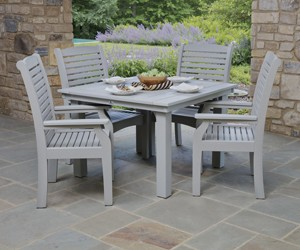 durable poly patio furniture at green