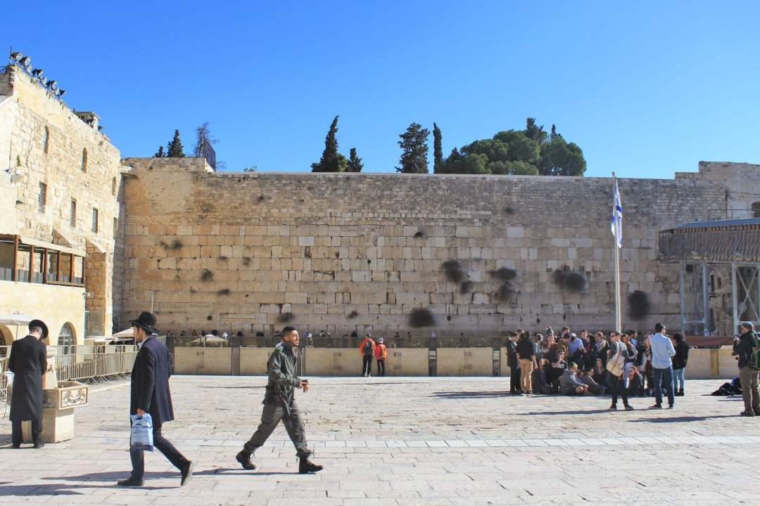 is israel safe palestine jerusalem soldier wall walking