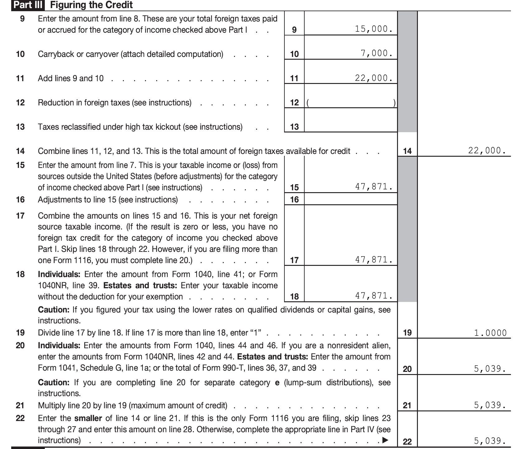 Form 1040 Income Worksheet