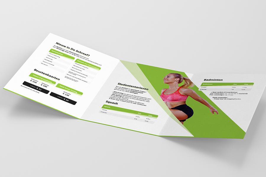 folder fitness ontwerp