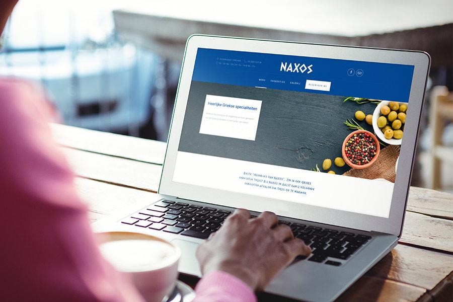 restaurant website Naxos Aalst