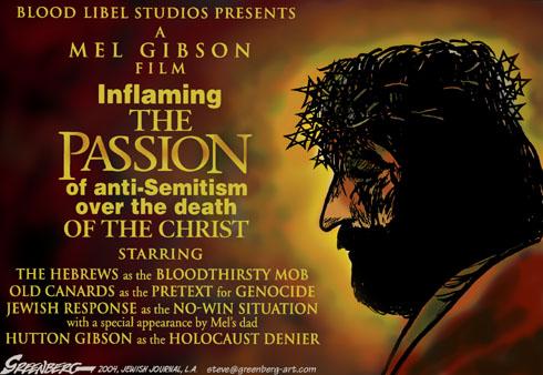 Mel Gibson and anti-Semitism, cartoon