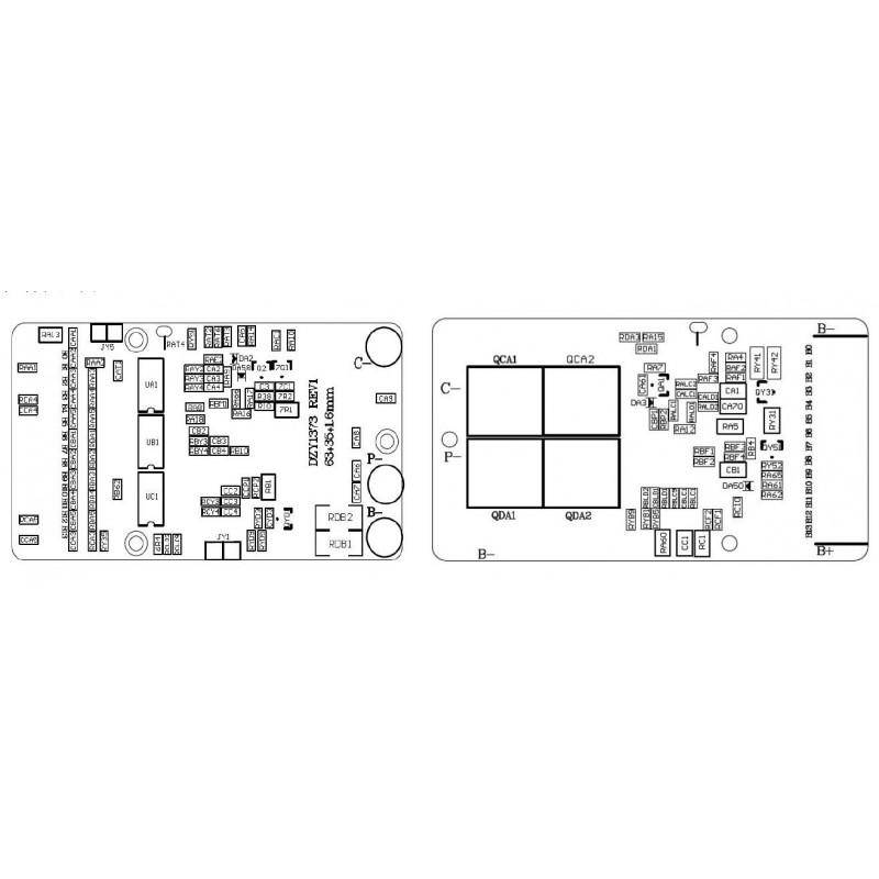 48V 13S ebike PCM for frame battery with smallest