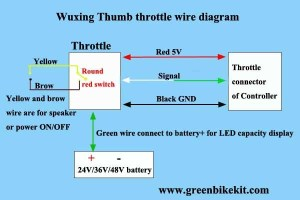 Wuxing Thumb throttle with battery switch and battery