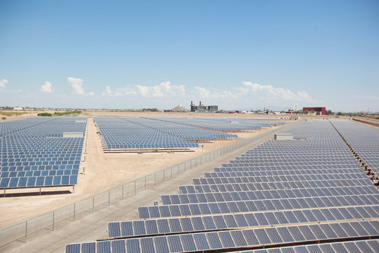 18,000 solar panels generate electricity for the Frito-Lay manufacturing site.