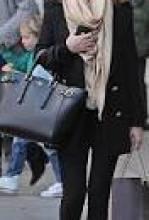 Lady and handbag