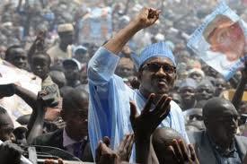Buhari addressing supporters