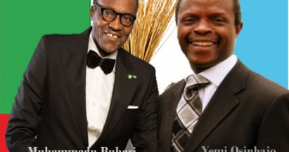 APC Presidential candidate, Muhammadu Buhari and his running mate, Yemi Osibajo,