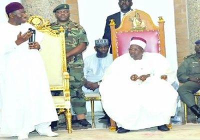 File Photo: President Jonathan and Shehu of Borno