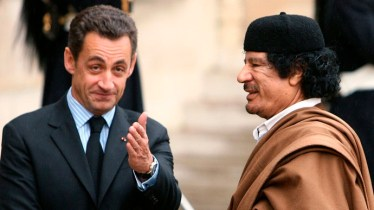 Gaddafi and French minister