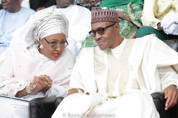 President Muhammadu Buhari and His Wife, Ayisha Buhari