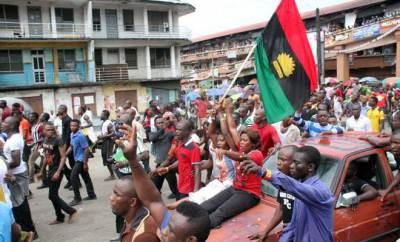 Biafran protesters