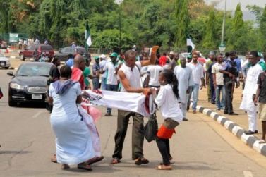 Protesters at NASS 2